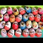 36 Zaini Kinder Surprise Easter Eggs! Frozen Cars2 Disney Princess Spiderman Mickey Barbie HW Huevos