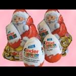 4 Kinder Surprise Eggs Santa Claus…