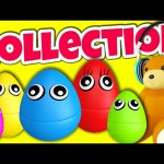 5 Little Monkeys Jumping on the Bed NEW 3D Surprise Eggs Version! Nursery Rhymes Collection