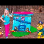 ASSISTANT TREASURE HUNT Paw Patrol Look Out Hunt + toysZootopia + Lion Guard Toys Surprise Video