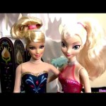 Barbie Ice Skater Doll Disney Frozen Young Elsa Anna Makeover Boneca Patinadora no Gelo da Mattel