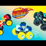 BLAZE AND THE MONSTER MACHINES Nickelodeon Blaze New Color Changer Blaze Video Toys