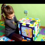 Box puzzle for kids with pony. Funny video