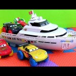 Cars 2 Hydro Wheels Boat Splash n Race Playset Porto Corsa Water Toys Disney Pixar Lightning McQueen
