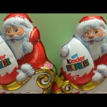 Christmas Santa Claus Kinder Chocolate Surprise Eggs Opening, Beautiful TOYS inside