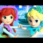 Disney Frozen Ice Skating Movie Scene Dress Up Princess Anna Elsa for Winter in Arendelle by Hasbro