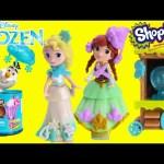 Disney Frozen Snap Ins with Shopkins Season 4 Food Fair Candy Jars