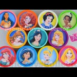 Disney Princess Play doh Cans Surprises ZOOTOPIA Inside Out Hello kitty Toys Princesas