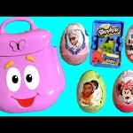 Dora's Backpack Surprise Baby Toys Eggs Minnie Sofia Shopkins Frozen Elsa TinkerBell Kinder Fairies