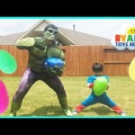 Easter Egg Hunt Surprise Toys Challenge Marvel Superheroes Avengers Captain America vs The Hulk