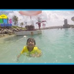 Family Fun Beach Water Slide for kids Chocolate Egg Surprise Toys Marvel SuperHero Ryan ToysReview