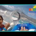 FAMILY FUN TRIP RollerCoaster Water Slide SPLASH PAD for kids Disney Cruise Fantasy AquaDuck