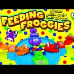 Feeding Froggies Game! Board Game Like Hungry Hippos Family Game Night Challenge by DisneyCarToys