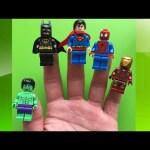 Finger Family Nursery Rhymes Spider-man Hulk Batman Superman Iron man