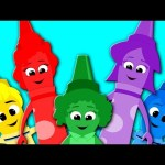 Five Little Crayons | Nursery Rhymes For Kids And Childrens | Learn Colors | Baby Songs