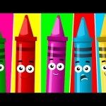 Five Little Crayons | Nursery Rhymes For Toddler And Childrens | Songs For Baby