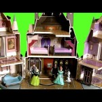 Frozen Castle of Arendelle Playset with Elsa Anna Kristoff Olaf – Disney MagiClip Mix-and-Match