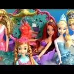 Frozen Mermaid Ariel Flower Showers Bath Time Color Changing Dolls!! Disney Anna Elsa Color Change