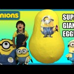 GIANT EGG SURPRISE MINION from Despicable Me kids Video Ryan ToysReview