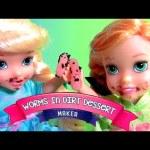 Gummy Worms Candy in Dirt Dessert Yummy Nummies DIY Dirt Cookies Desserts Disney Frozen Anna Elsa