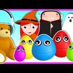 Halloween – Five Little Monkeys – Surprise Eggs Animation!!! Learn Colors for Kids   Nursery Rhymes