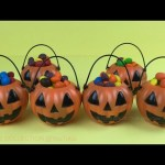 Halloween Pumpkin Baskets Candy Surprise Toys, Angry Birds, Spongebob Squarepants, Party Animals Toy