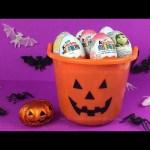 Halloween Pumpkin Surprise Eggs Bucket, Disney Inside Out Surprise Eggs, Kinder, Barbie Surprise Egg