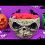 Happy Halloween 30 Play-Doh Surprise Eggs Opening Hello Kitty Strawberry Shortcake PartyAnimals Toys