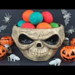 Happy Halloween with Play Doh Surprise Balls and Scary Toys Opening by SR Toys Collection