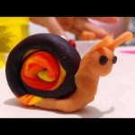 How to make snail play doh. Nice video for children .