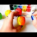 How to paint apple for kids . Nice video with nice song