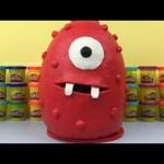HUGE Muno Play Doh Surprise Egg Yo Gabba Gabba! Hot Wheels Cars MARVEL IRON MAN HULK Disney Frozen