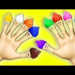 Ice Cream Song Finger Family 3D for Children Toddlers to Learn Colors | Surprise Eggs Nursery Rhymes