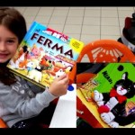 Kids Learning Farm Animals. Funny video with kids ride shopping