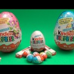 Kinder Surprise Egg Easter Party!  Opening 2 Huge Surprise Eggs!