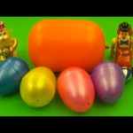 Kinder Surprise Egg Learn-A-Word! Lesson 'R' (Teaching Spelling & Letters Unwrapping Eggs & Toys)
