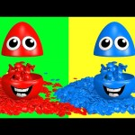 Learn Colors 3D Candy M&M's Surprise Eggs – Learning Colours for Kids Toddlers