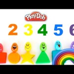 Learn Colors Shapes Counting Play-Doh Surprise Eggs Peppa Pig Learning Colours