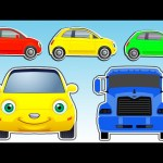 Learn Colors with Cars and Trucks for Kids | Teach Colours Street Vehicles | Animated Surprise Eggs