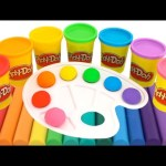 Learn Colors with Play Doh Rainbow Modelling Clay Creative Fun for Kids RainbowLearning