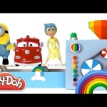 Learn Colors with Play Doh Toy Machine Peppa Pig Frozen MLP Incredibles Minions RainbowLearning