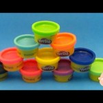 Learn Colours With PLAY-DOH! New Special Edition Multi Colors 10 Mini Cans Opening & Unboxing