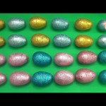 Learn Patterns with Glitter Surprise Eggs!  Opening Surprise Eggs filled with Toys! Lesson 21