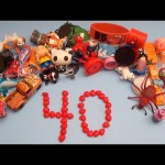 Learn To Count 1 to 40 with Toys and Candy Numbers!