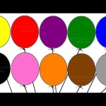 """Learning colours with """"Balloon Colouring Page"""" Children's educational video"""