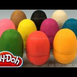 Learning Colours with Surprise Play Doh Eggs Shopkins Season 3 Toys inside