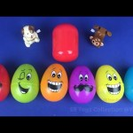 Learning Fruit Name with Surprise Eggs, Hello Kitty Kinder Chocolate Surprise Egg and Wind Up Toys