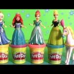MagiClip Disney Princess Cinderella's Royal Carriage Magic-Clip Play-Doh Elsa Anna Ariel Cenicienta