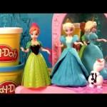 MagiClip Elsa Fashion Design Dolls Magic Clip Princess Cinderella Anna Design-a-Dress