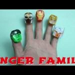 Marvel Avengers Finger Family Nursery Rhymes Song For Children